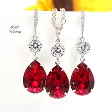 red necklace set images Dark red earrings necklace set si 31 little desirez jewelry JPG