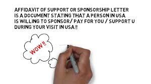 Invitation Letter Us Visa usa visa sponsorship letter form i134 usa visa affidavit of