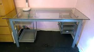 computer desk glass metal computer desk glass top desk glass and metal corner computer desk