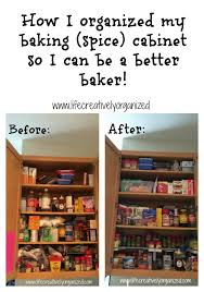 Spice Cabinet Organization How I Organized My Baking And Spice Cabinet Life Creatively