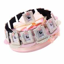 cornice battesimo bimbo torta bomboniere per battesimo nascita bimba portafoto confettata