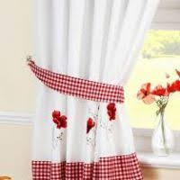 Red And White Curtains For Kitchen Red Kitchen Curtains Uk Justsingit Com
