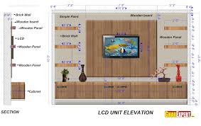 Picture Hanging Height Lcd Unit Of 15 Feet Length And 10 Feet Height With Wooden Board