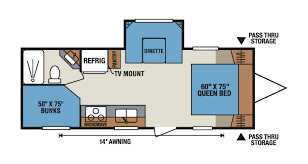 Expandable Floor Plans Shop Rvs By Floor Plan Options Veurinks U0027 Rv Bunk House Rear