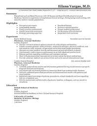 Example Of A Nursing Resume by Best Doctor Resume Example Livecareer