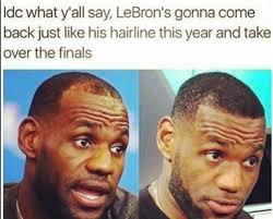 Lebron James Hairline Meme - funniest lebron james memes after cavs blowout loss to golden