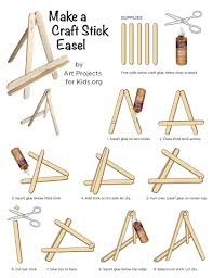 popsicle stick mini easel art projects for kids
