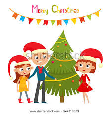 merry christmas husband and wife clipart