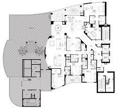 3 floor plans luxury waterfront penthouse estate in florida