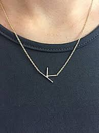intial necklace sideways initial necklace initial reaction