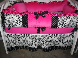 Mini Crib Baby Bedding black and pink baby bedding bedding queen