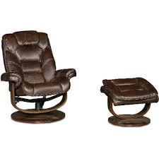 Recliner With Ottoman Dark Brown Swivel Recliner U0026 Ottoman Rc Willey Furniture Store