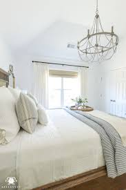 bedroom chandelier ideas one room challenge blue and white guest bedroom reveal before and
