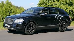 bentley bentayga 2015 bentley bentayga suv prototype latest spy video on street and