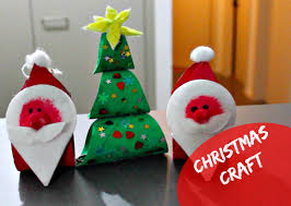 santa claus and christmas tree craft using toilet paper roll youtube