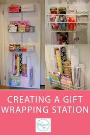 wrapping supplies creating a gift wrapping station home organisation the