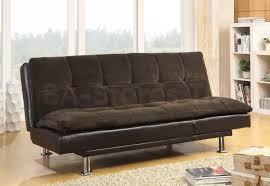 Modern Futon Sofa by 407 95 Millie Modern Futon Sofa Bed With Chrome Legs Sofa Beds 8