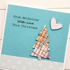 melbourne christmas card australia one of a kind map christmas