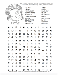 thanksgiving word find free printable