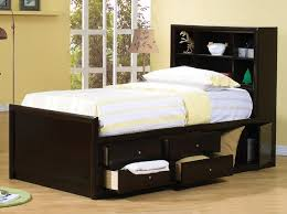 Beds With Drawers Beautiful Twin Bed With Drawers And Bookcase Headboard 71 For Ikea