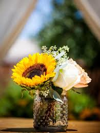 small centerpieces reception décor photos small sunflower centerpiece inside weddings