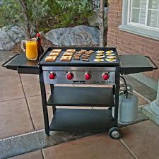 camp chef 600 square inch outdoor propane gas flat grill and