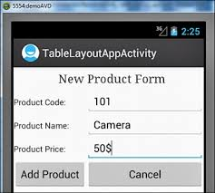 xamarin android table layout tablelayout laying out controls in android containers informit
