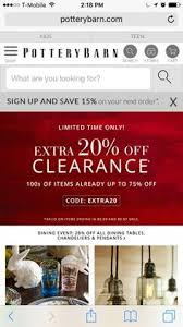 Pottery Barn E Commerce Potterybarn Category Page Ecommerce Mobileuxui Uxuidesign Ux