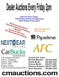 abilene texas cm company auctions