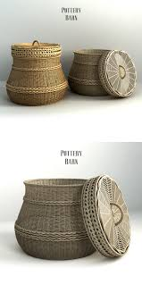 pottery barn lidded barrel basket by erkin aliyev 3docean