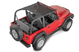 jeep wrangler red front sun screen for 03 06 jeep wrangler tj u0026 unlimited quadratec