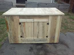 pallet kitchen island with cabinets