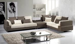 Suede Sectional Sofas Modern Brown Microfiber Sectional Sofa Shop For Affordable Home