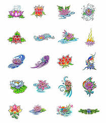 lotus flower and butterfly designs on photos