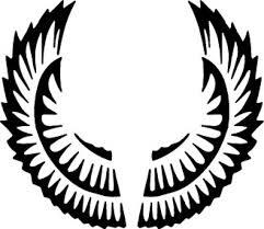 symmetric circular wings design vector free