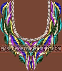 embroidery design of neck premium range sizzling embroidery designs latest embroidery