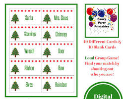 christmas printable games bundle lot of 5 family feud