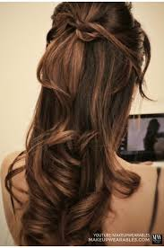half updo long hair hair style and color for woman