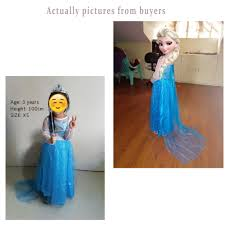 frozen costumes kids castillo elsa dress custom made princess
