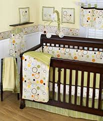 Orange Crib Bedding Sets Sumersault Pop Dot 10 Crib Set Green