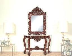 Mirror And Table For Foyer Mirrored Entryway Table Webdirectory11