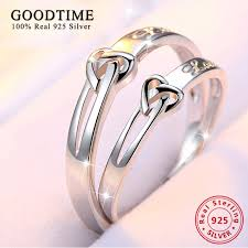 cute jewelry rings images Fashion purple silver 925 jewelry heart love rings for women jpg