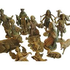 vintage early fontanini nativity figurines 14 piece set italy