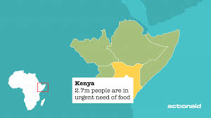 Map Of East Africa by Kenya Actionaid Uk