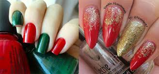 15 red green gold christmas nail art designs ideas trends