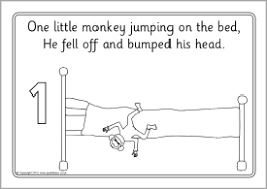 coloring pages monkeys jumping bed coloring pages ideas