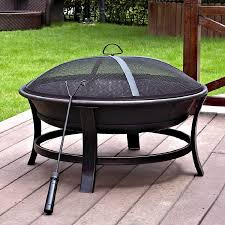 Allen Roth Fire Pit by Shop Jeco 30 In W Black Gold Steel Wood Burning Fire Pit At Lowes Com