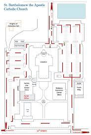 catholic church floor plan designs ash wednesday parking route plan st bartholomew the apostle