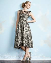 tea length dress unger new york sleeveless lace tea length cocktail dress