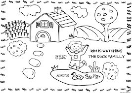 worksheet coloring pages online free farm kim kid